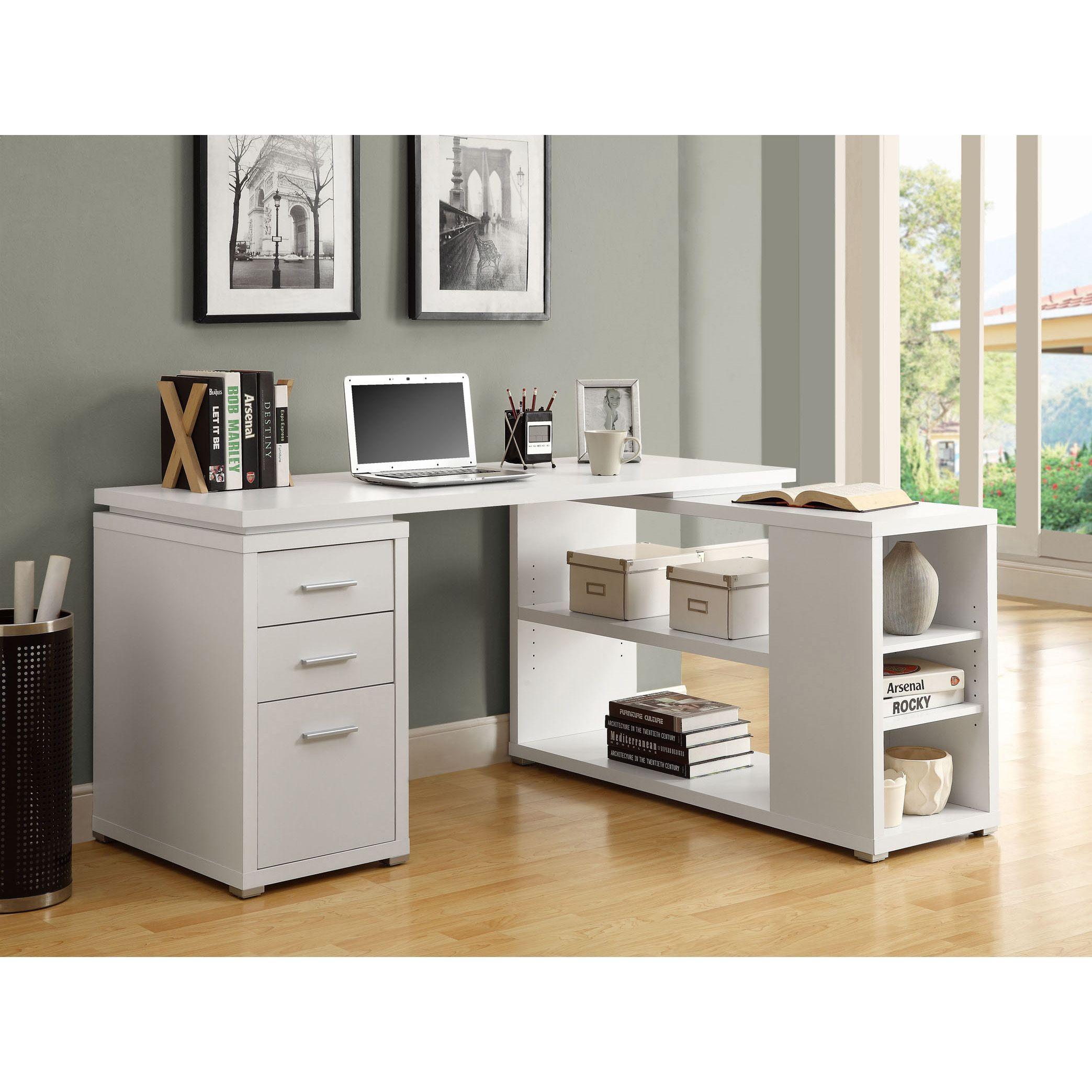 Monarch Hollow Core Left Or Right Facing Corner Desk Bureau Etagere Bureau Organisation Du Bureau Et Bureau Blanc