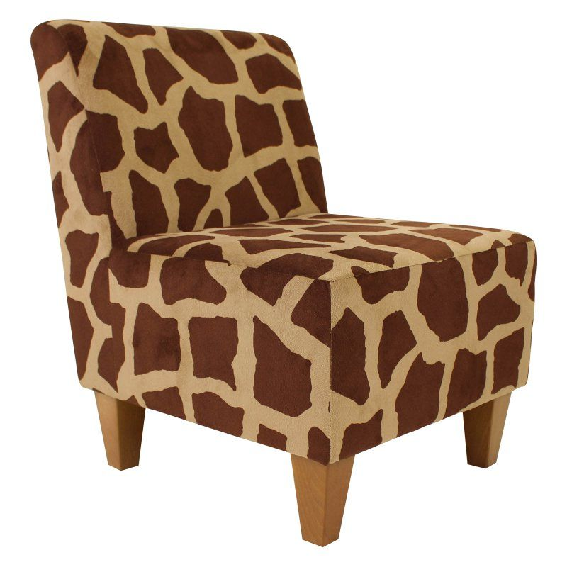 Fox Hill Penelope Giraffe Print Armless Slipper Chair - UCH-AMANDA-PON2