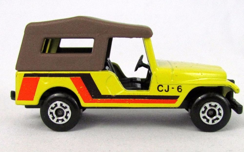 Vtg 1977 Matchbox Superfast 53 Yellow Jeep Cj6 Lesney Diecast Toy