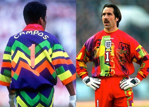 jorge campos , seeman, The worst GK jersey is... A) Mexico '94 or ...