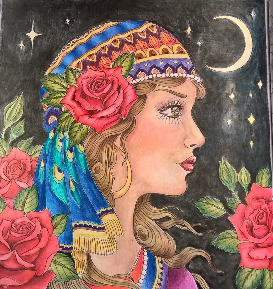 coloured by brenda dockery prismacolor pencils from chris