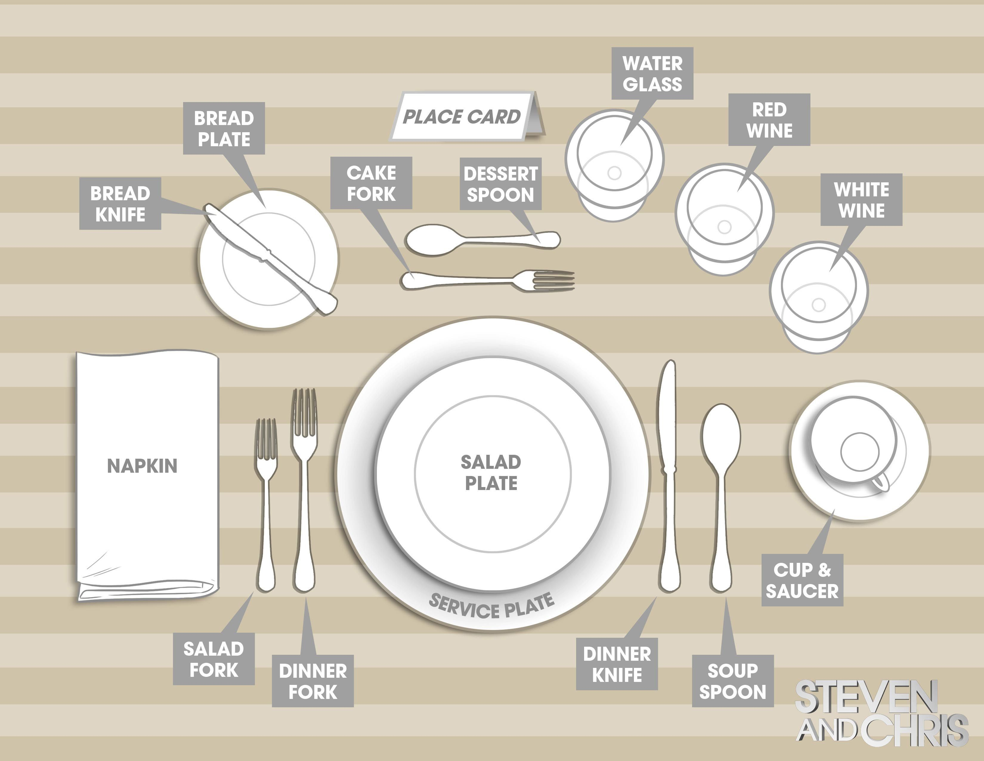 hight resolution of dinner party table setting
