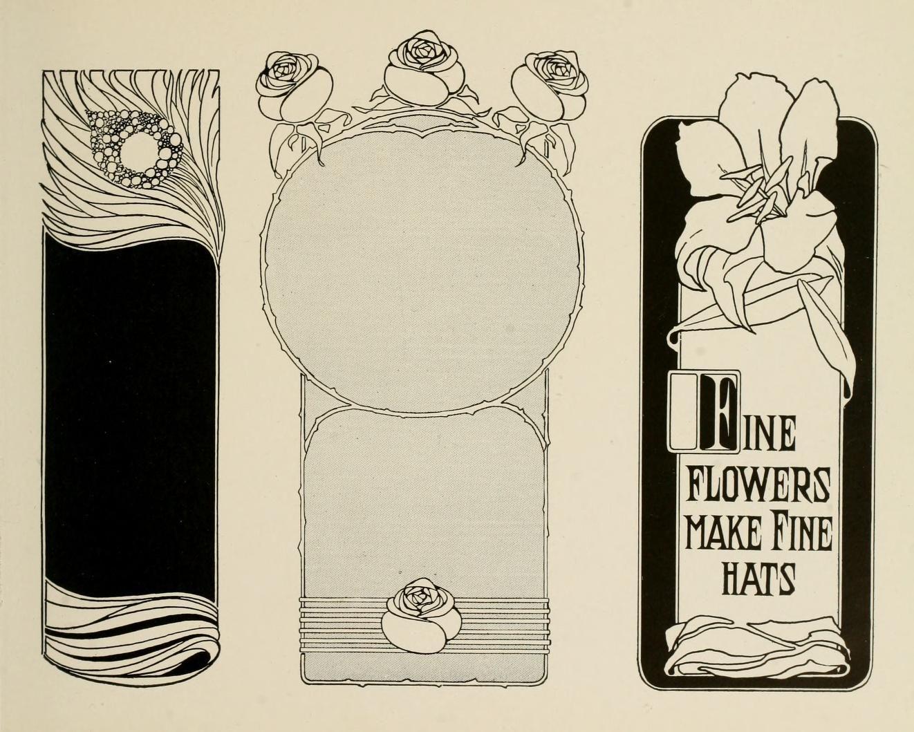 Strong' Book Of Design; Masterpiece Mode. Style-ornament Art Nouveau Flowers