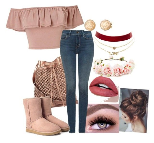 """""""Untitled"""" by dark-kiss ❤ liked on Polyvore featuring Miss Selfridge, nooki design, NYDJ, UGG, Charlotte Russe and Forever 21"""