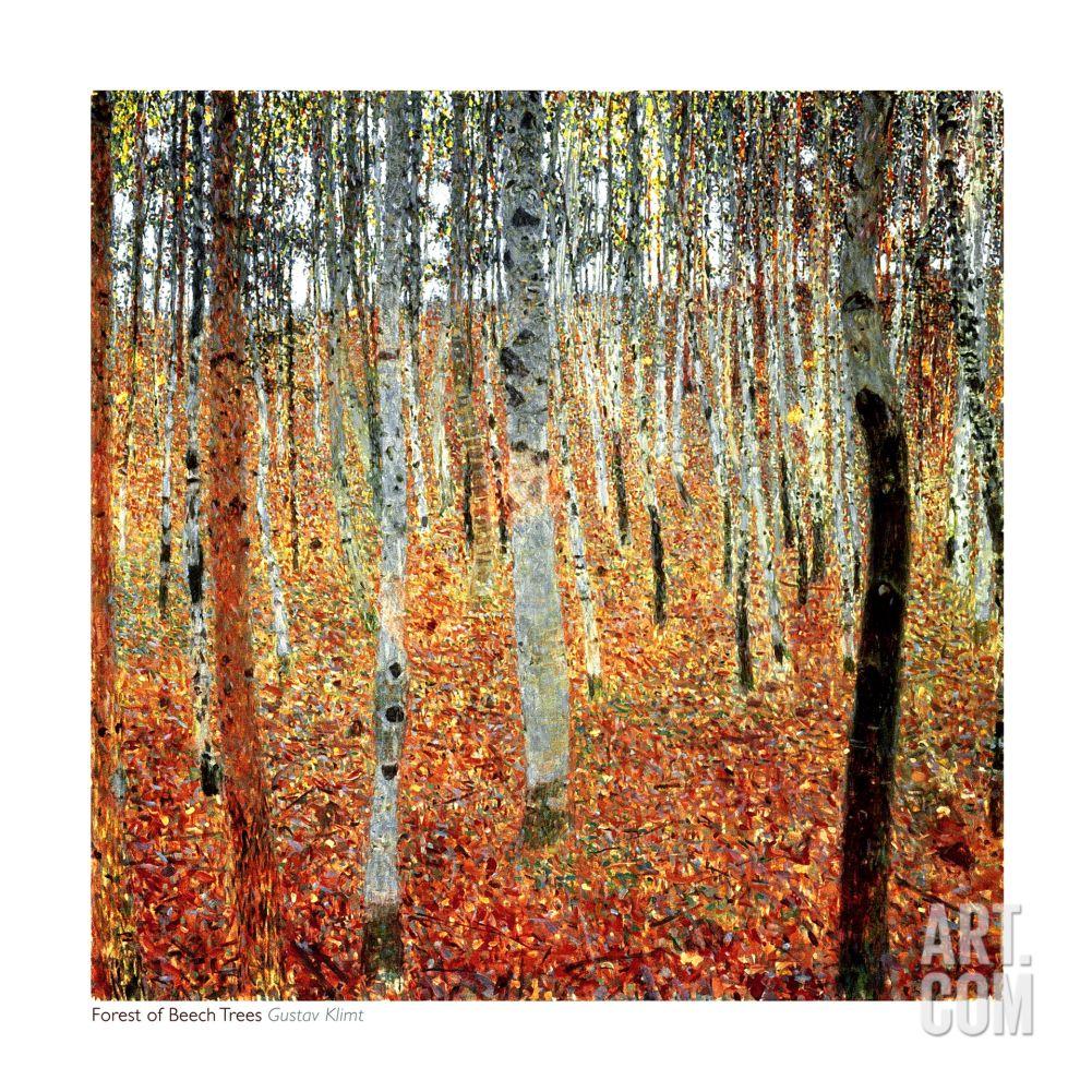 Forest of Beech Trees, c.1903 | Gustav klimt, Klimt y Pinturas