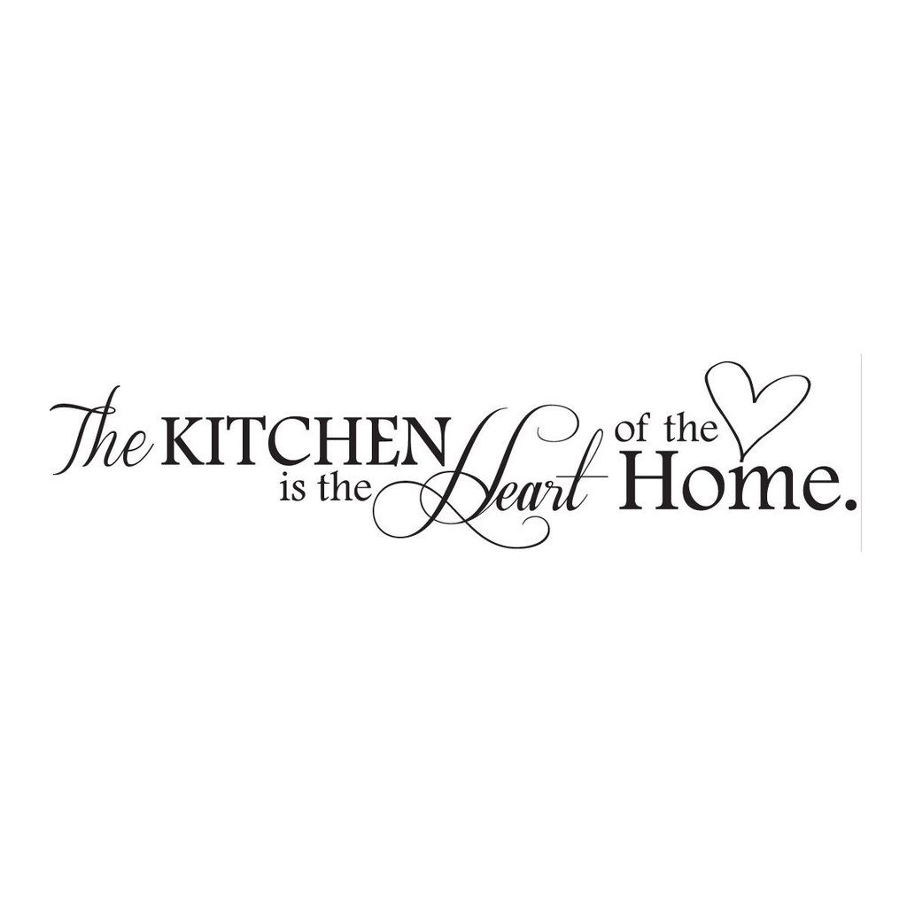 Kitchen Heart Of The Home Inspiration The Kitchen Is The Heart Of The Home Wall Decal Kitchen Wall . Design Ideas