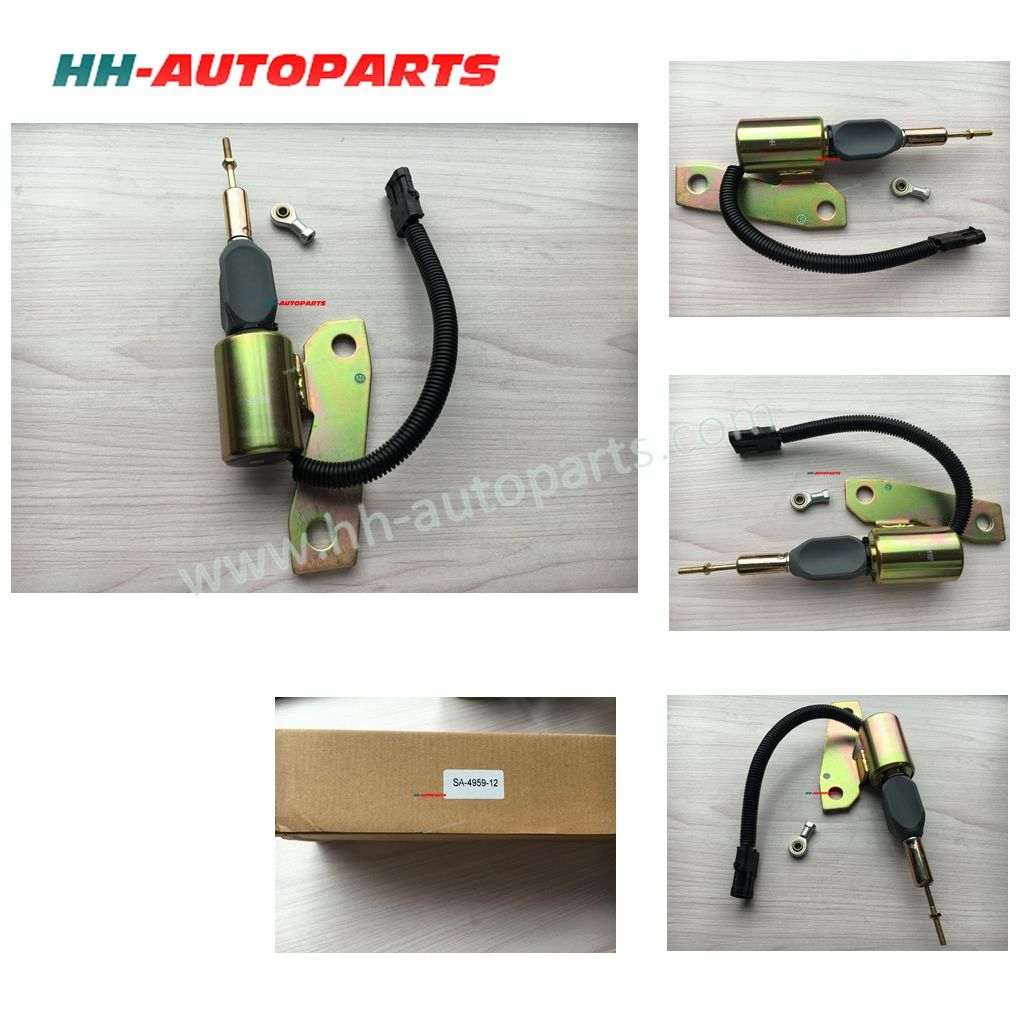 hight resolution of sa 4959 12 12v fuel stop solenoid for cummins 6bt 3991624 engine shut off solenoid email sales07 hh autoparts com