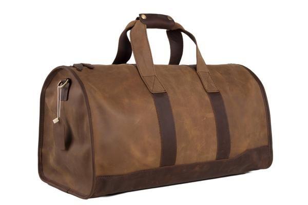 247b193a52 Super Large Leater Overnight Bag Duffle Bag Laptop Weekend Bag Men s Travel  Bag DZ03 - ROCKCOWLEATHERSTUDIO