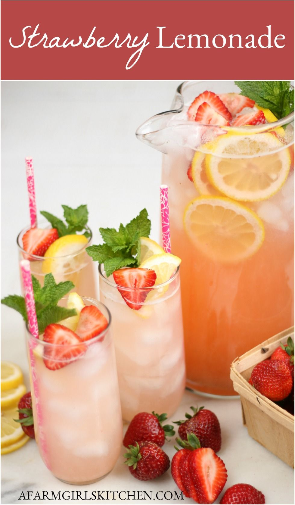 Strawberry Lemonade (EASY to make!)
