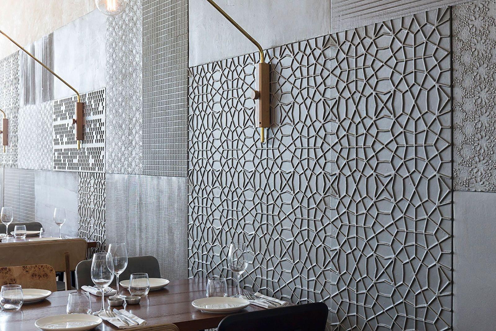 concrete panels interior design modern microtopping trendy kitchen tile exposed brick on kitchen interior tiles id=76830
