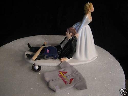 St Louis Cardinals BASEBALL Wedding Cake Topper By Finsnhorns