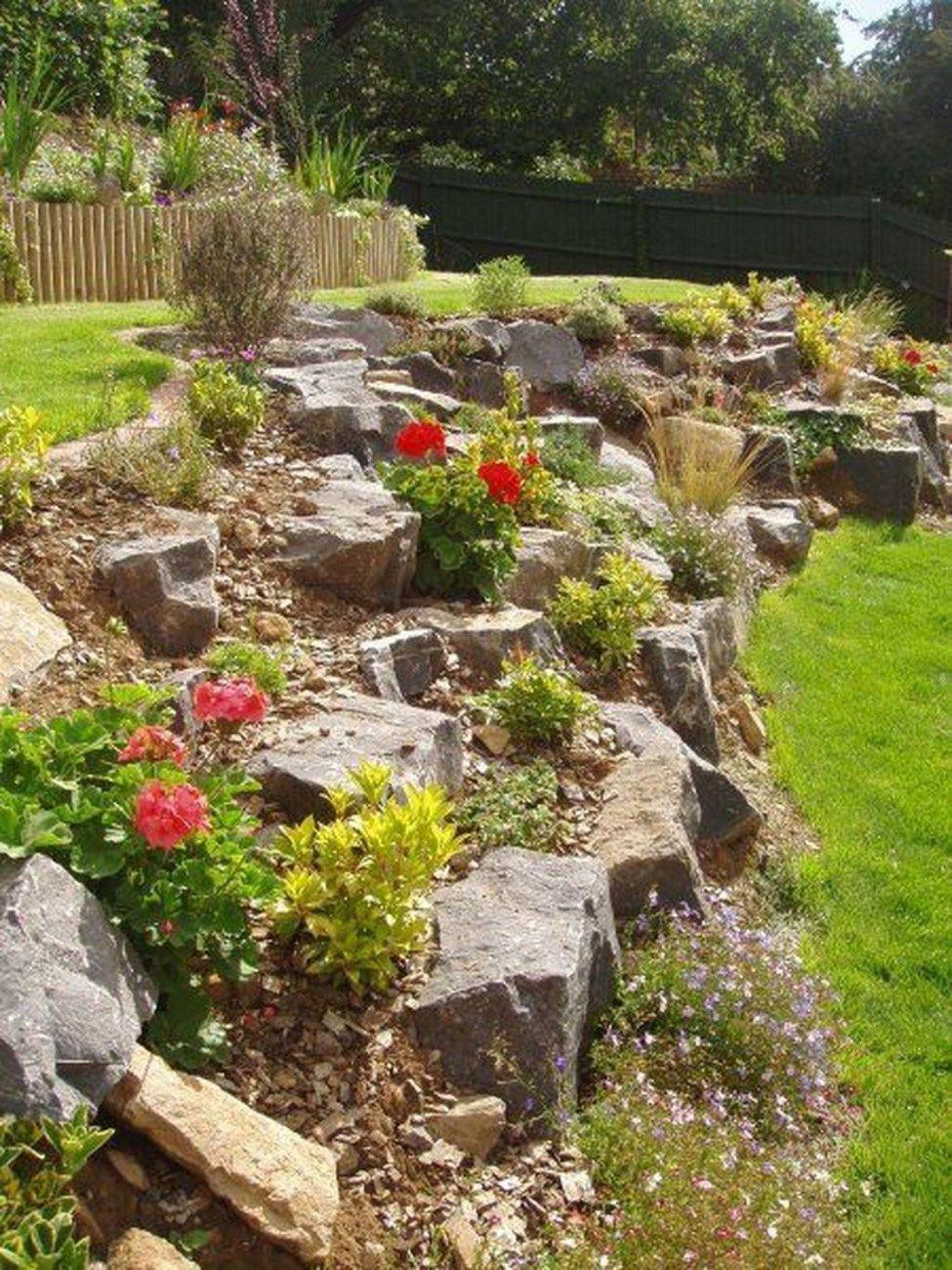 50 Low Maintenance Front Yard Landscaping Ideas 50homedesign Com Rock Garden Design Rock Garden Landscaping Sloped Backyard