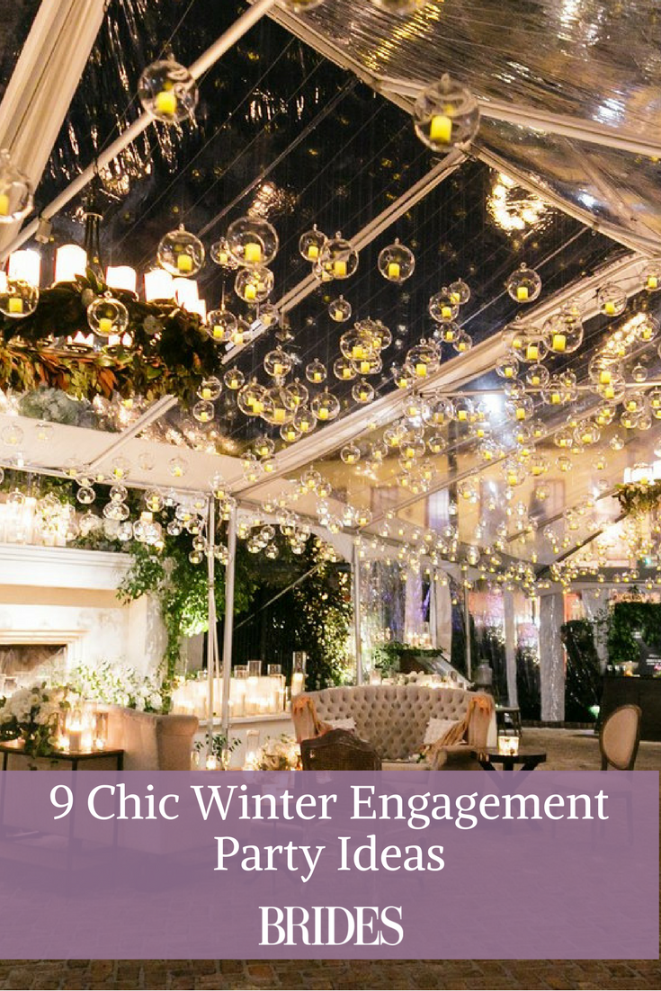 9 Chic Winter Engagement Party Ideas #engagementpartyideasdecorations