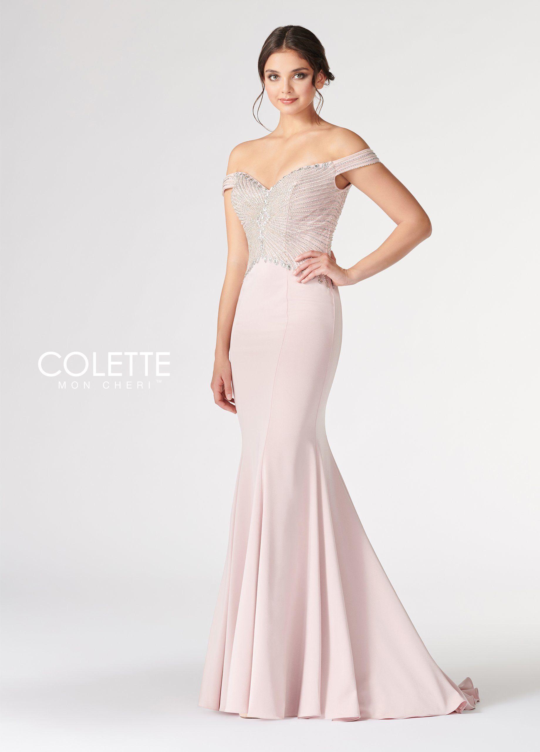 Colette Cl19811 Petal Pink Silver Sweetheart Neckline Off The Shoulder Fit And Flare Prom Dress Dresses Prom Dresses Princess Prom Dresses [ 2560 x 1840 Pixel ]