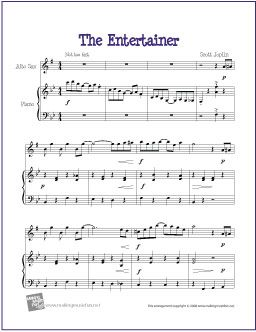 The Entertainer Free Easy Alto Saxophone Sheet Music Sheet Music Trombone Sheet Music Cello Sheet Music