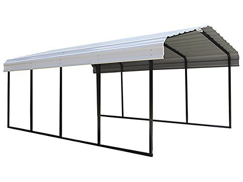 12x20x7 Galvanized Steel Roof Panel Square Tube Frame Click On