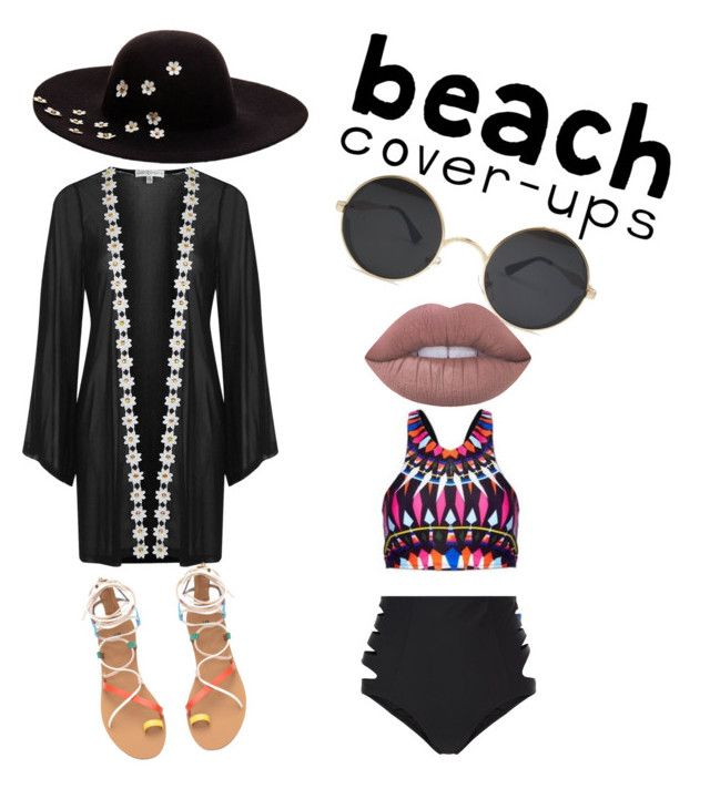 """beach!! I'm ready.."" by koodita on Polyvore featuring New Look, Topshop, Lime Crime, Betsey Johnson and coverups"