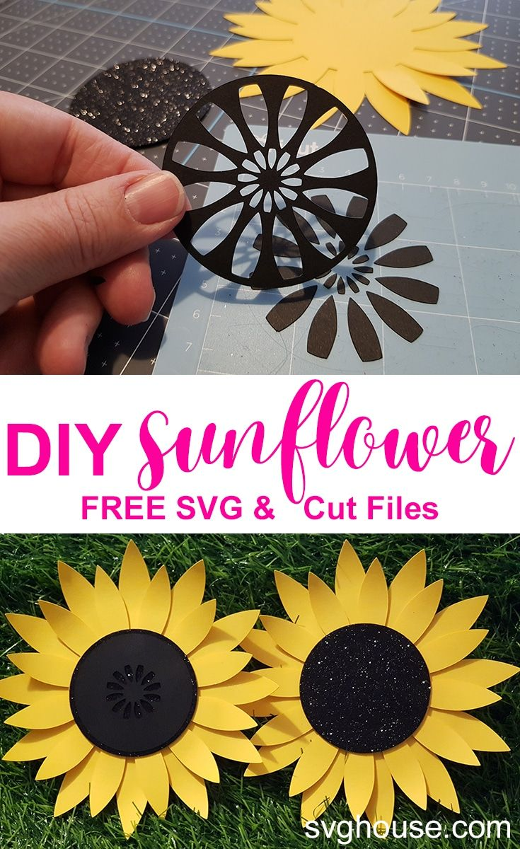 Craft a stunning diy paper sunflower with your cricut