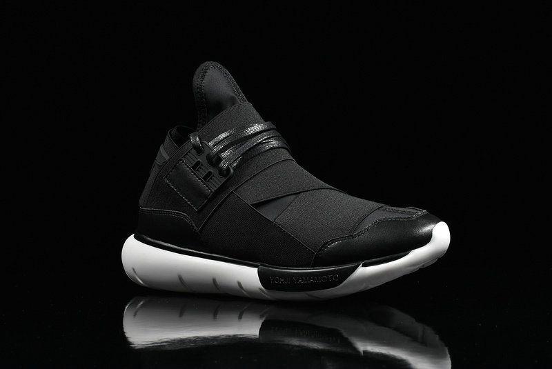 outlet store 8eb9b fcb86 Latest Adidas Y3 Qasa High Yohji Yamamoto Black Noir White blanc Youth Big  Boys Sneakers