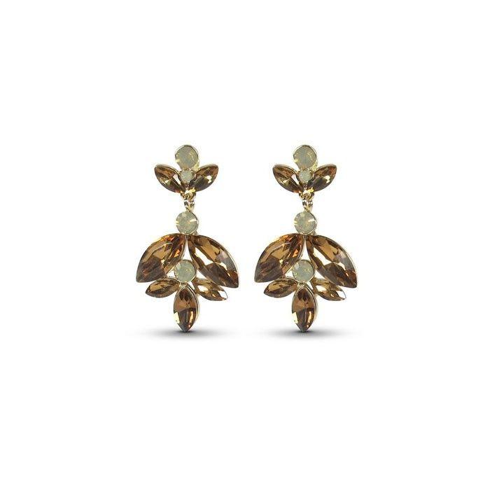 Audrey earrings topaz fra Cecilie Melli AW16