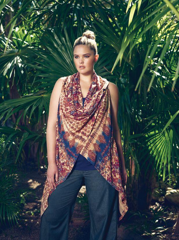 Love & Legend Multiway Vest & Wide Leg Pant...Available at Addition Elle, your plus size fashion destination. #plussize