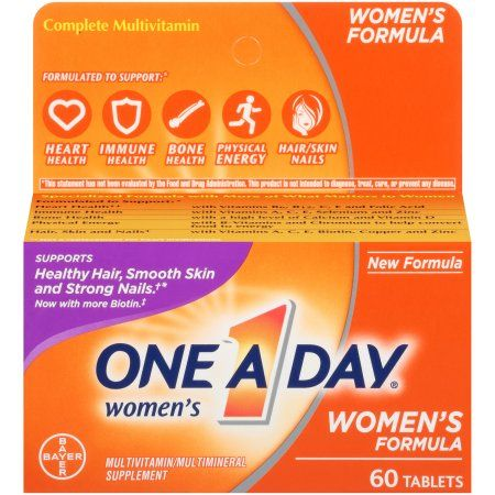 One A Day Women's Multivitamin Tablets, Multivitamins for Women, 60 Ct - Walmart.com