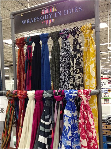 Are Pvc Decorator Colors A Need Fixtures Close Up Scarf Display Rack Storage