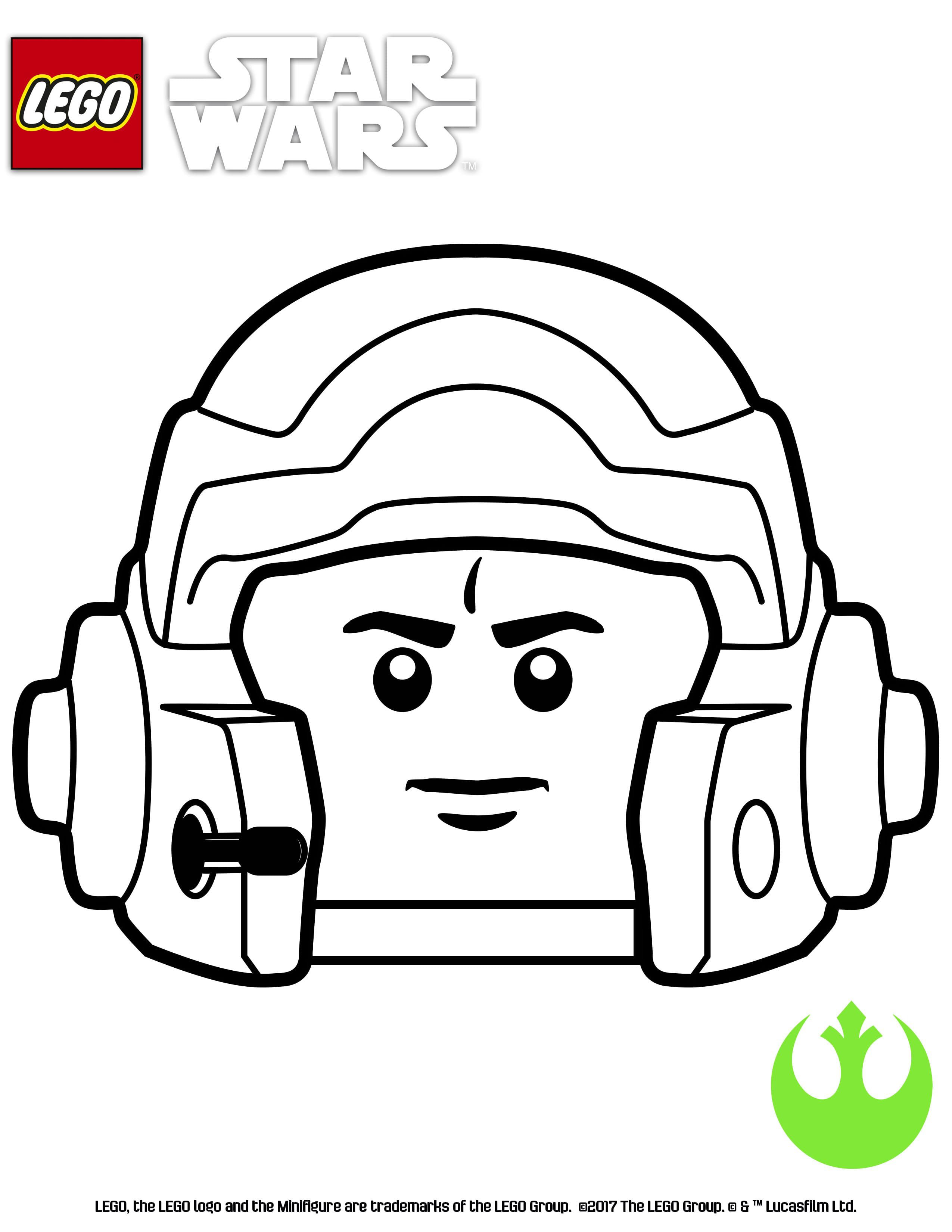 Lego Star Wars Coloring Page Green Suadron Star Wars Drawings