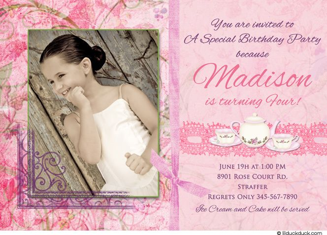 8 best ideas about tea party – Girly Party Invitations