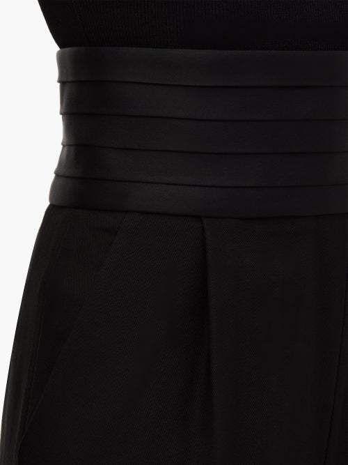 KHAITE Blaine Cummerbund-waist Trousers - Womens - Black #Sponsored , #AD, #Cumm...