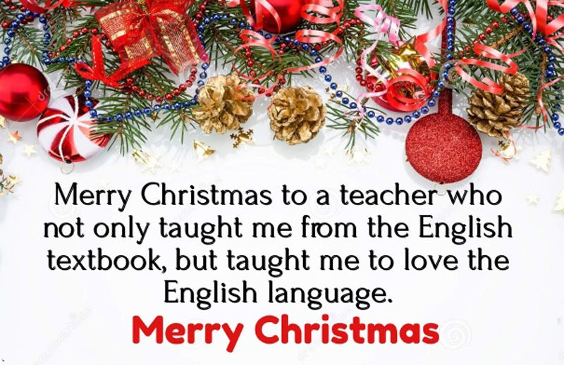 65 Christmas Message For Teachers To Make Them Happy Christmas