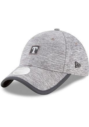 best service 2637e 4542b New Era Texas Rangers Grey Trimflect Adjustable Hat