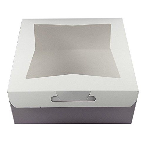 Cake Boxes With Window White 10 X 10 X 5 Inches 5 Count By Gsa Read More Reviews Of The Product By Visiting The Link On The I Box Cake Decorating Tools Box