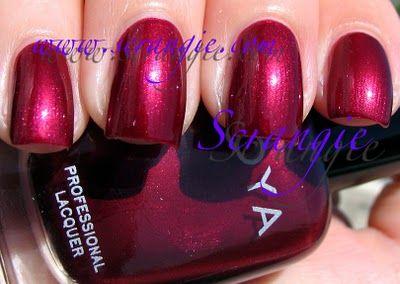 Zoya Divincia (Shimmery Dark Berry Red)