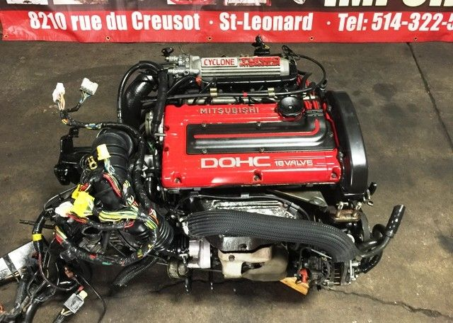 JDM MITSUBISHI 4G63T TURBO CYCLONE 6 BOLT ENGINE WITH MT 5 SPEED AWD