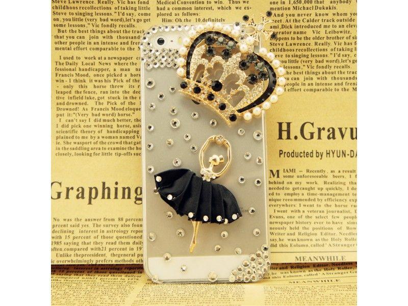 #3D #Ballet Girl + Crown #Crystal iPhone 5/5S #Case