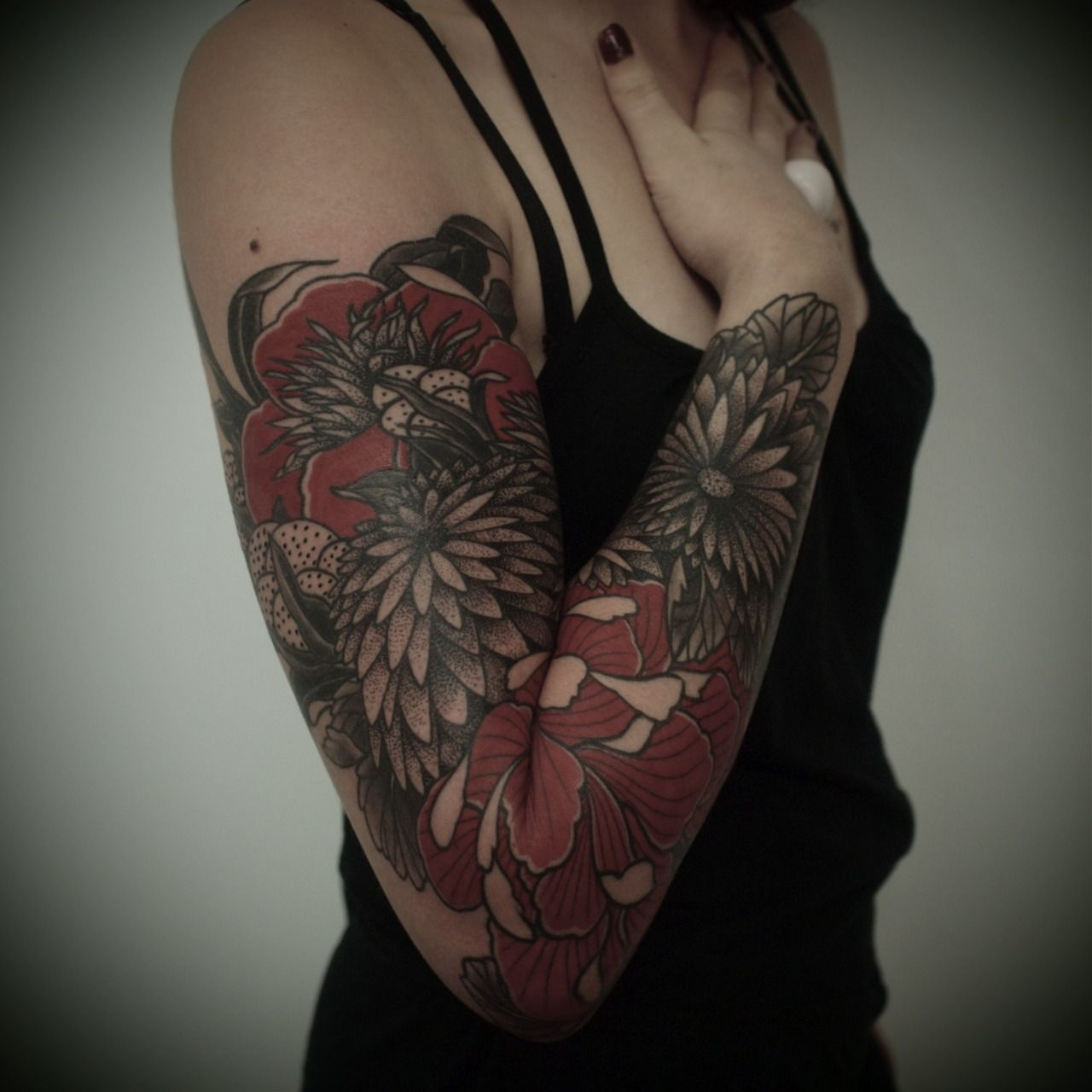 Love Sleeve Tattoo: Red Tattoos, Sleeve Tattoos For Women