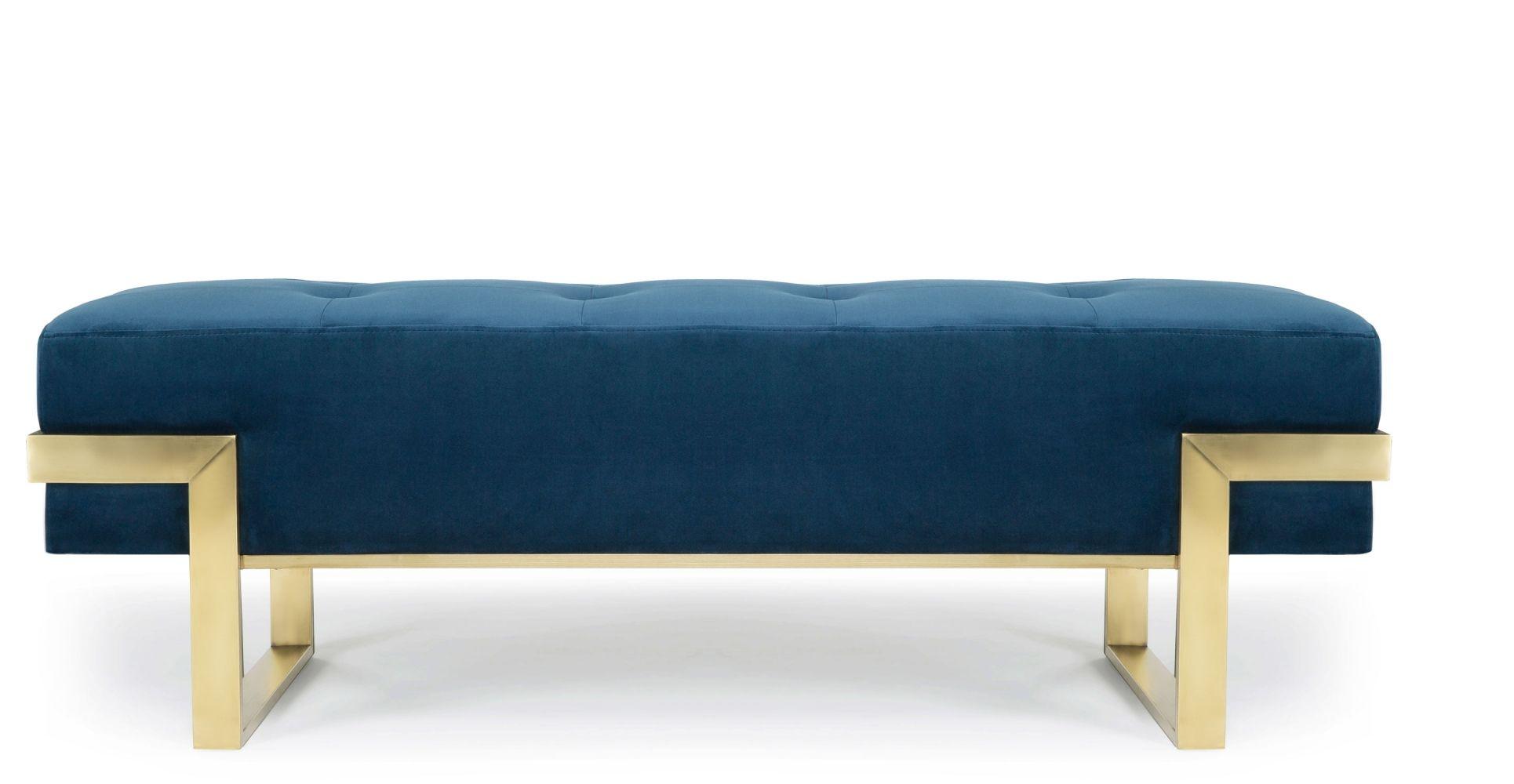 Vertigo Banc Design Pour Entrée En Bleu Velours Apartment In