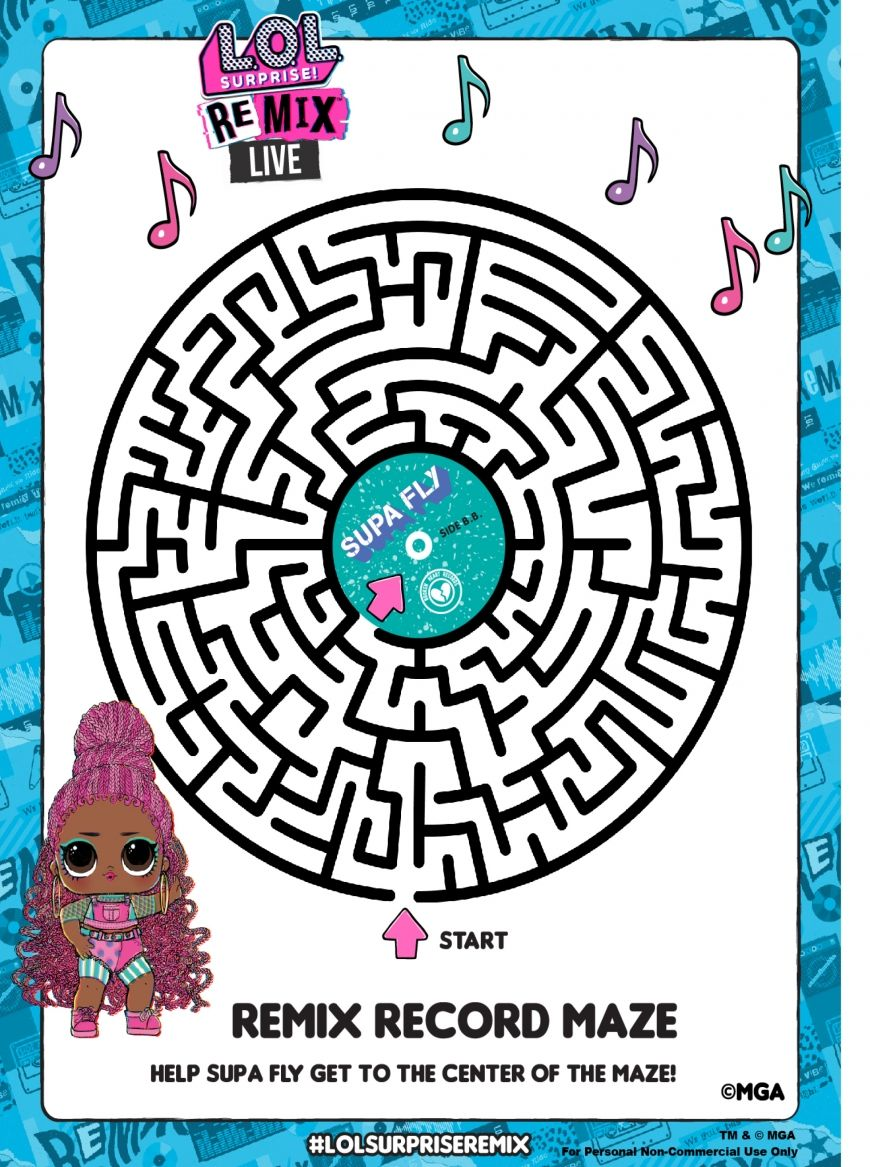 Lol Surprise Remix Coloring Pages And Activity Pages Youloveit Com Coloring Pages Lol Lol Dolls