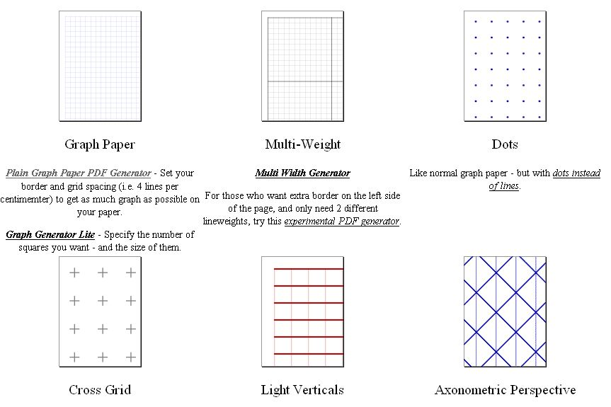 Make Your Own Graph Paper  Craft Ideas