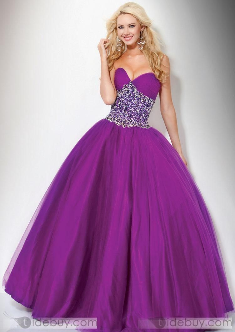 Pretty A-Line Floor-Length Sweetheart Prom Dresses | Pinterest ...