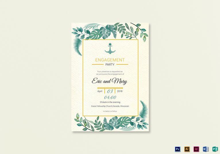 Nautical Engagement Announcement Card Template Engagement Announcement Cards Engagement Announcement Nautical Engagement