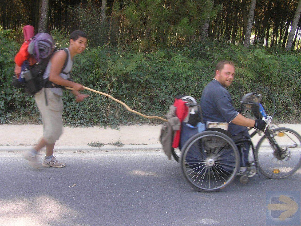 camino de santiago for wheelchair users, discapacitados, sila, rohlstuhle jakobsweg