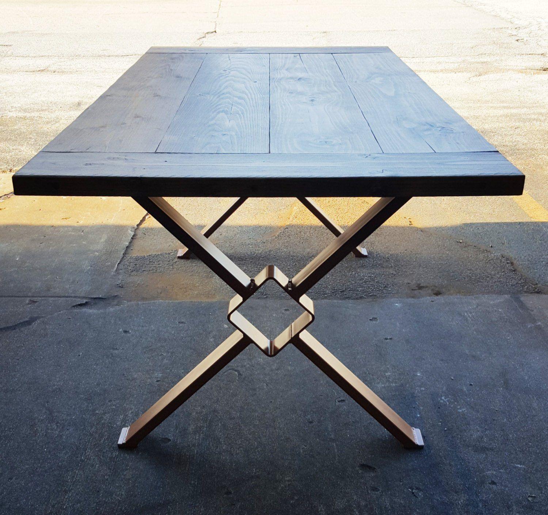 Modern Dining Table X Legs Model Tt11 Industrial Legs With