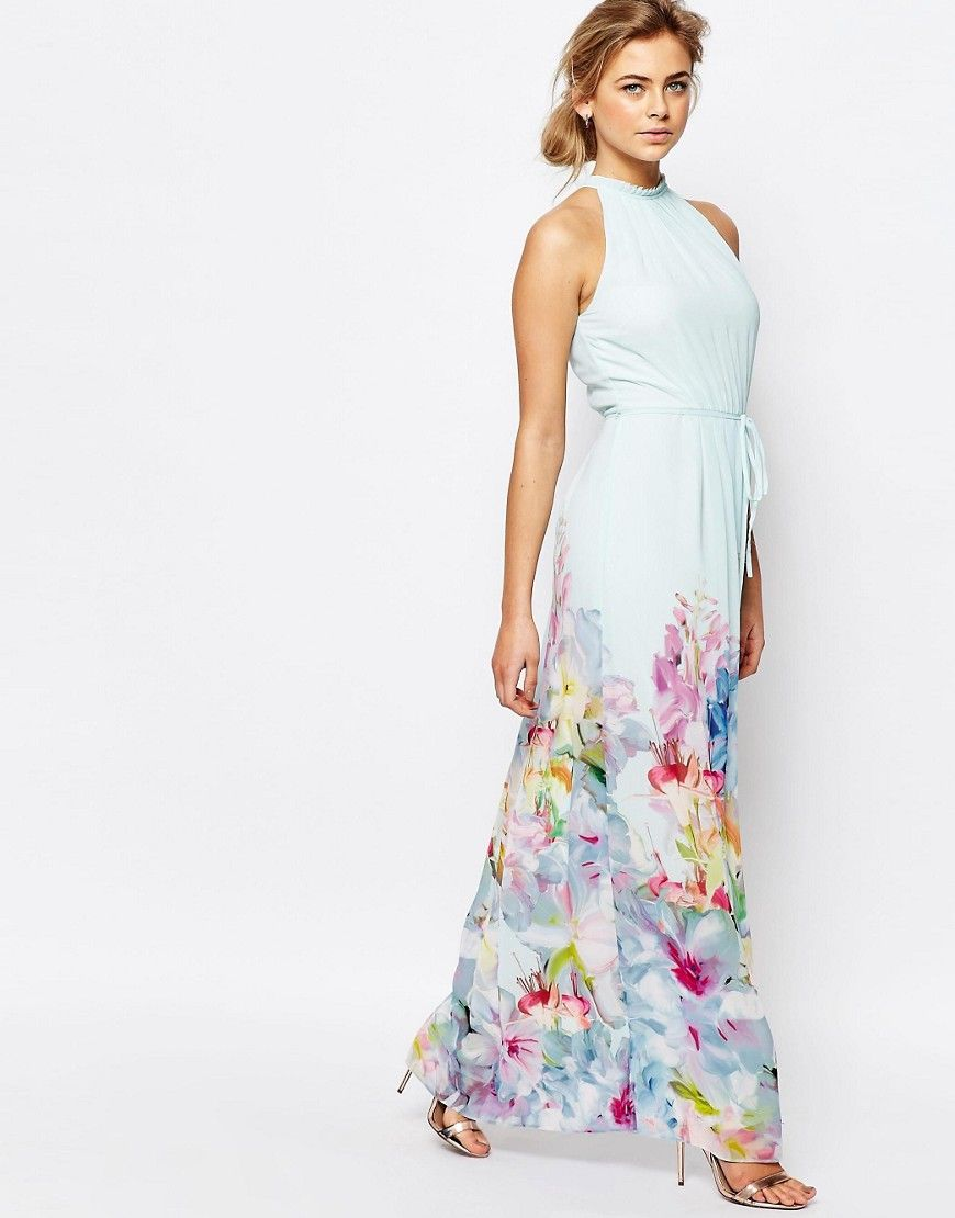 Image 4 of Ted Baker Hanging Gardens Border Maxi