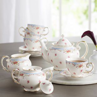 Ophelia & Co. Kratz 11 Piece Porcelain China Tea Set | Wayfair #teasets