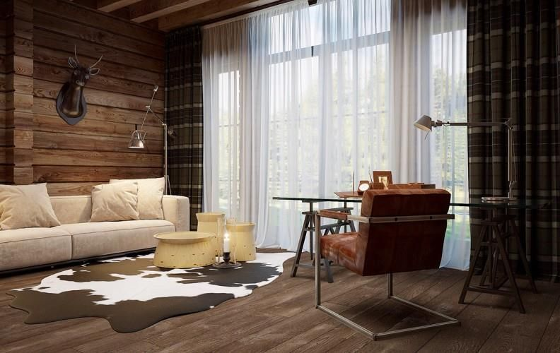 Dream Home: Modern Chalet in Kiev | For more interior design projects visit: http://www.interiordesignblogs.eu/ #interiordesign #interiors #homeoffice #chalet