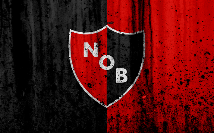 Newells Picture: Download Wallpapers 4k, FC Newells Old Boys, Grunge