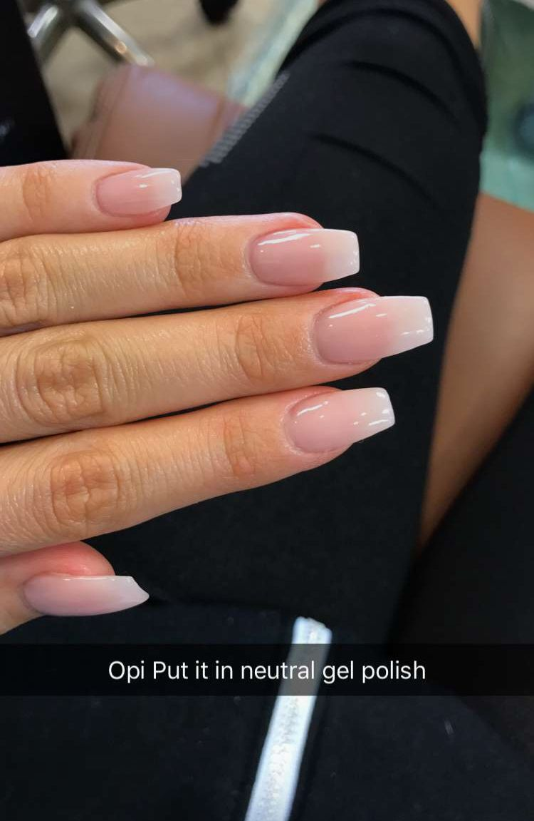 Opi Put It In Neutral Gel Polish Simple Acrylic Nails Fake