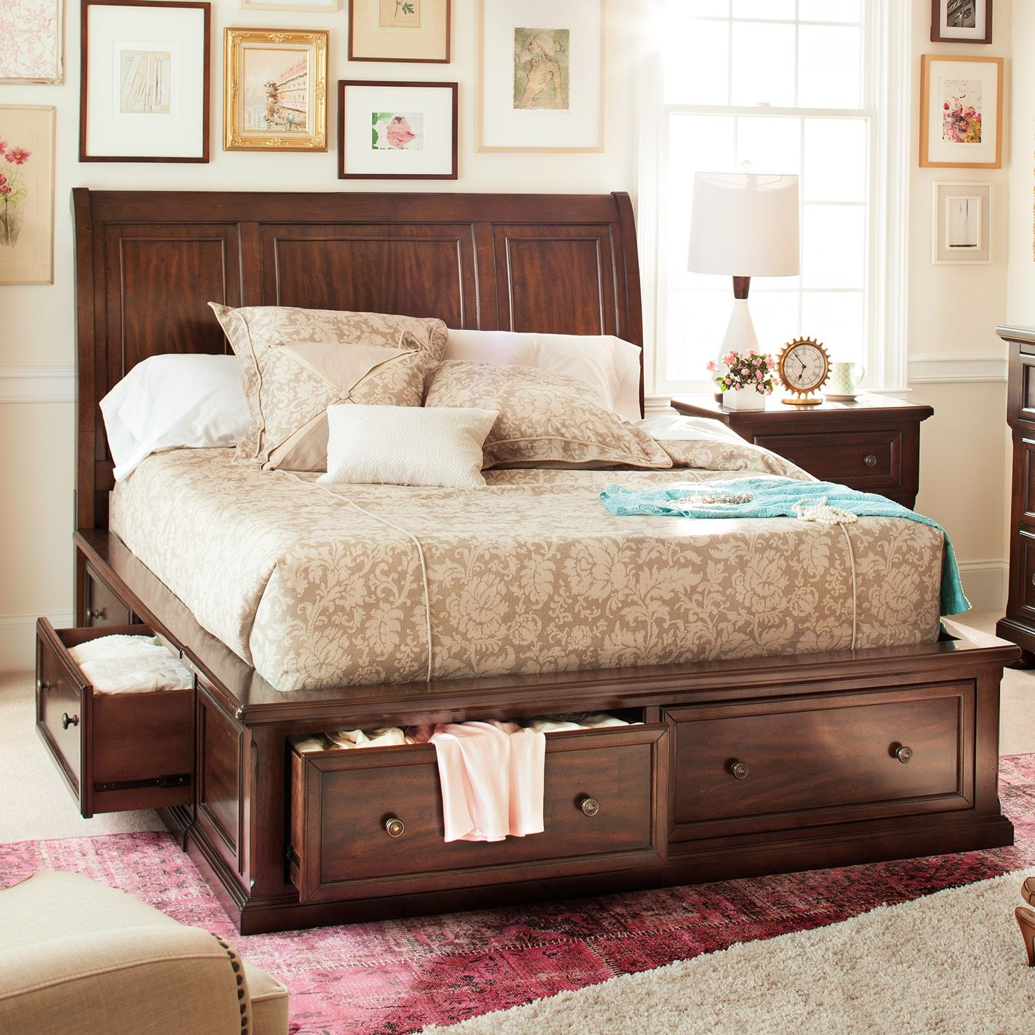 Double Duty Bed For People With Too Much Stuff Hanover Queen Storage Bed American Signature